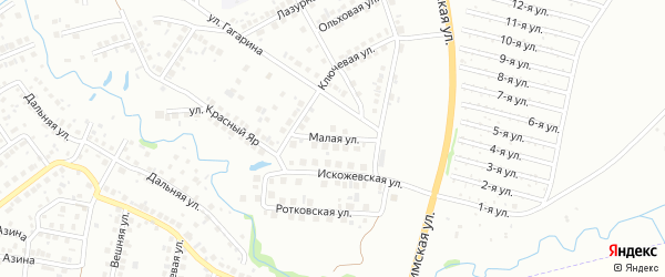 Малая улица на карте Нефтекамска с номерами домов