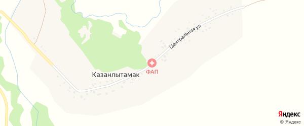 Центральная улица на карте деревни Казанлытамака с номерами домов