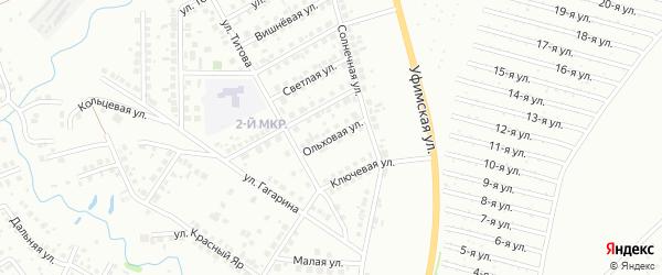 Ольховая улица на карте Нефтекамска с номерами домов