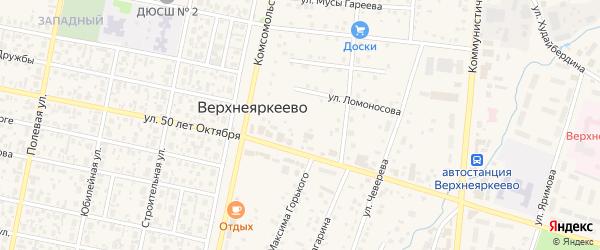 Улица Х.Такташ на карте села Верхнеяркеево с номерами домов