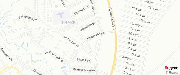 Ключевая улица на карте Нефтекамска с номерами домов
