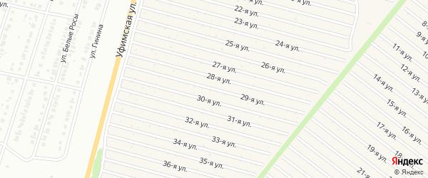 29-я улица на карте СНТ Радуга-1 с номерами домов