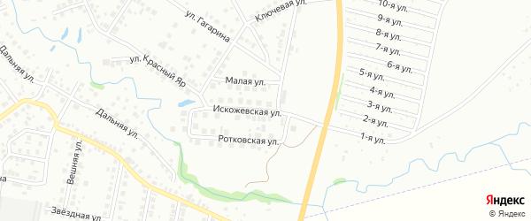 Искожевская улица на карте Нефтекамска с номерами домов