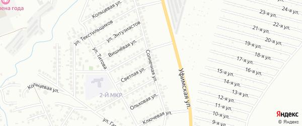 Солнечная улица на карте Нефтекамска с номерами домов