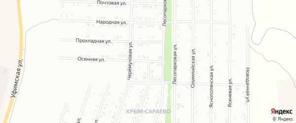 Прохладная улица на карте Нефтекамска с номерами домов