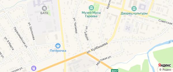 Улица М.Гафури на карте села Верхнеяркеево с номерами домов