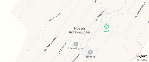 Улица Ленина на карте села Нового Актанышбаша с номерами домов
