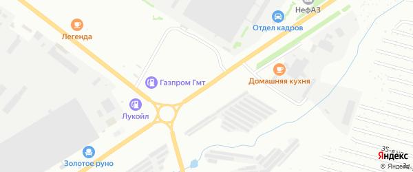 Янаульская улица на карте Нефтекамска с номерами домов
