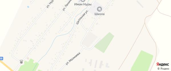 Улица Мазмаева на карте села Нового Актанышбаша с номерами домов