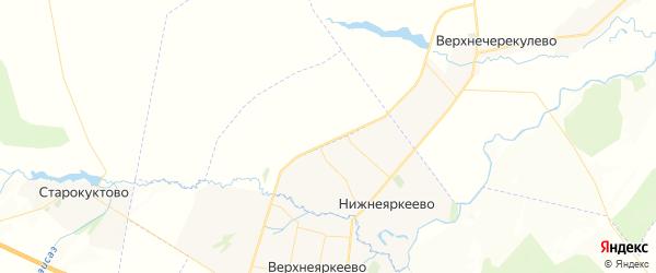 Карта Исанбаевского сельсовета республики Башкортостан с районами, улицами и номерами домов