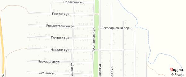 Лесопарковая улица на карте Нефтекамска с номерами домов