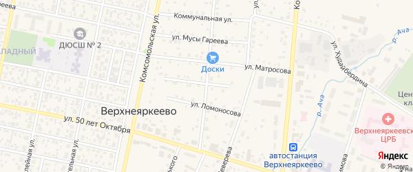 Улица С.Юлаева на карте села Верхнеяркеево с номерами домов