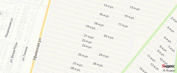 21-я улица на карте СНТ Радуга-1 с номерами домов