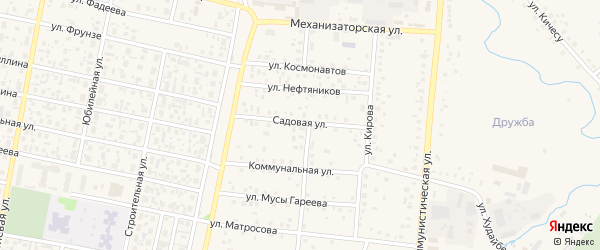 Садовая улица на карте села Верхнеяркеево с номерами домов