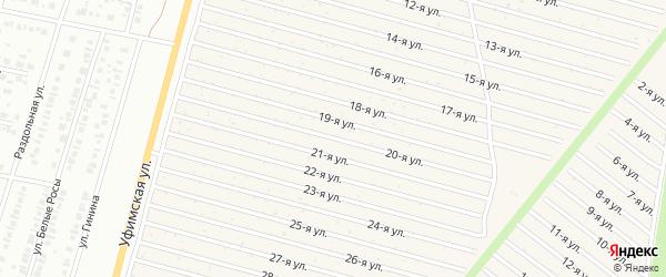 20-я улица на карте СНТ Радуга-1 с номерами домов
