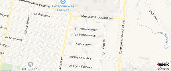 Улица Нефтяников на карте села Верхнеяркеево с номерами домов