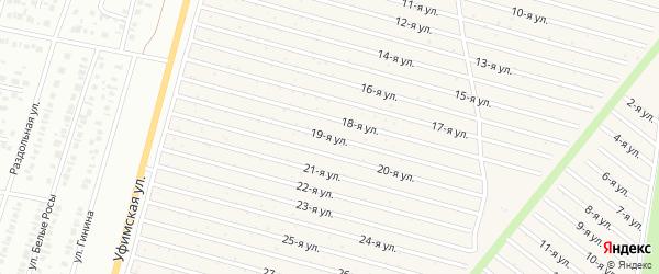 19-я улица на карте СНТ Радуга-1 с номерами домов