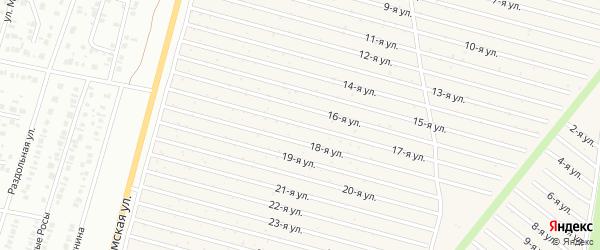 17-я улица на карте СНТ Радуга-1 с номерами домов