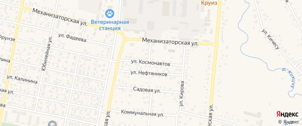 Улица Космонавтов на карте села Верхнеяркеево с номерами домов