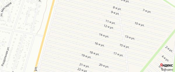Пятнадцатая улица на карте СНТ Радуга-1 с номерами домов