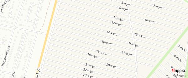 16-я улица на карте СНТ Радуга-1 с номерами домов