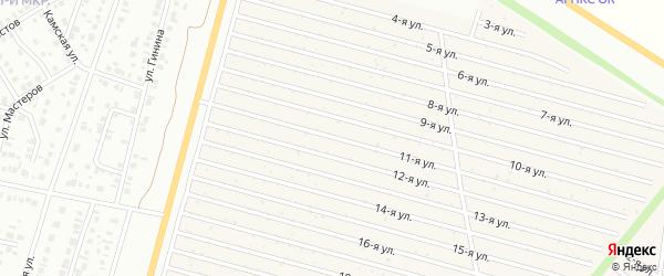11-я улица на карте СНТ Радуга-1 с номерами домов
