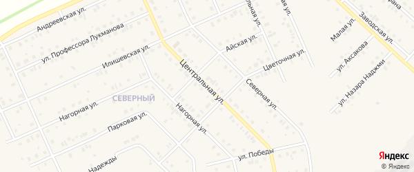 Центральная улица на карте села Нижнеяркеево с номерами домов