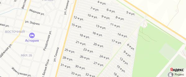 СНТ Радуга-1 на карте Нефтекамска с номерами домов