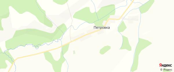 Карта деревни Петровки в Башкортостане с улицами и номерами домов