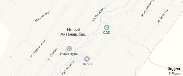 Школьная улица на карте села Нового Актанышбаша с номерами домов