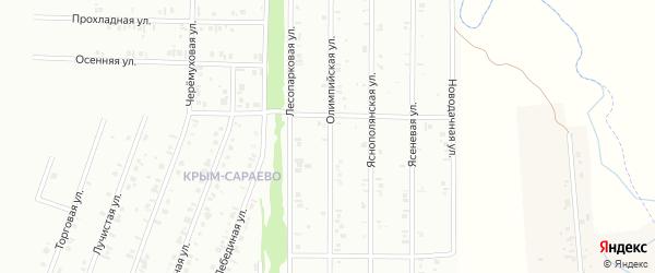 18-я улица на карте СНТ Юбилейного с номерами домов
