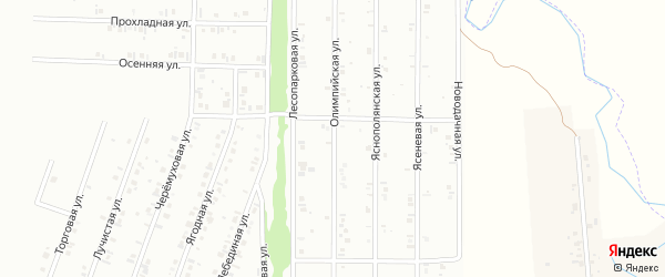18-я улица на карте СНТ НАТП Южного с номерами домов