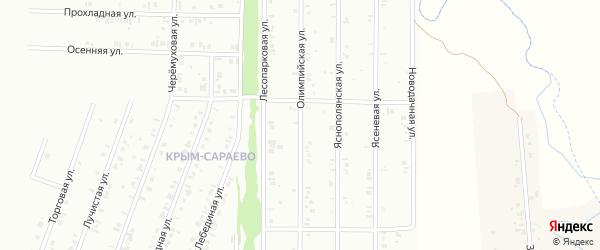 18-я улица на карте СНТ Восхода НГДУ с номерами домов
