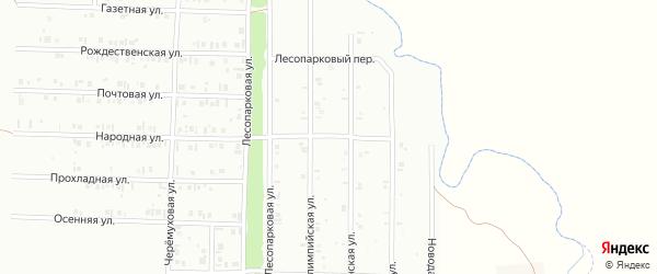 22-я улица на карте СНТ Буровика с номерами домов