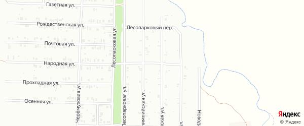 22-я улица на карте садового товарищества СПК Радуги 2 с номерами домов