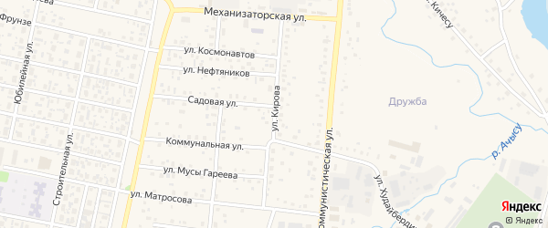 Улица Кирова на карте села Верхнеяркеево с номерами домов