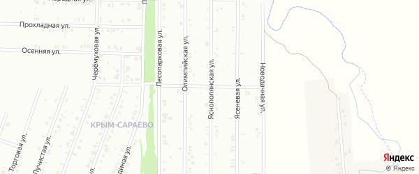 24-я улица на карте СНТ Флора с номерами домов