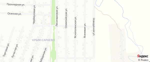 19-я улица на карте СНТ Восхода НГДУ с номерами домов