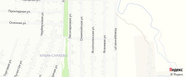 24-я улица на карте СНТ Восхода НГДУ с номерами домов