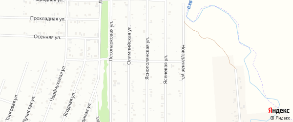 24-я улица на карте СНТ Арлана с номерами домов