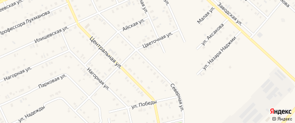 Северная улица на карте села Нижнеяркеево с номерами домов