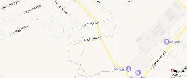Аграрная улица на карте села Нижнеяркеево с номерами домов