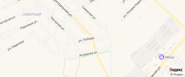 Улица Победы на карте села Нижнеяркеево с номерами домов