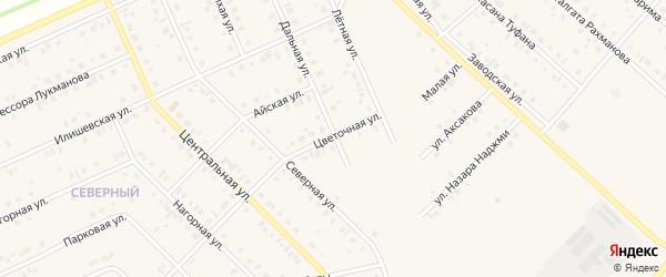 Цветочная улица на карте села Нижнеяркеево с номерами домов