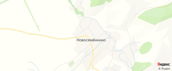 Карта села Новосеменкино в Башкортостане с улицами и номерами домов