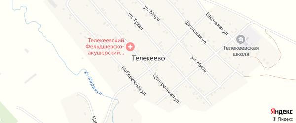Центральная улица на карте деревни Телекеево с номерами домов