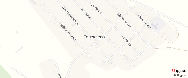 Улица Мира на карте деревни Телекеево с номерами домов