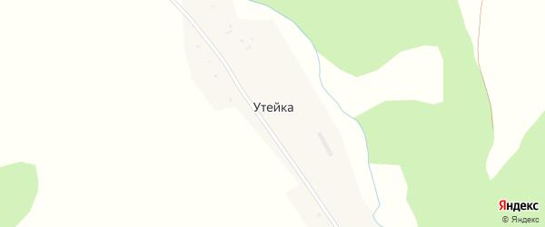 Лесная улица на карте деревни Утейки с номерами домов