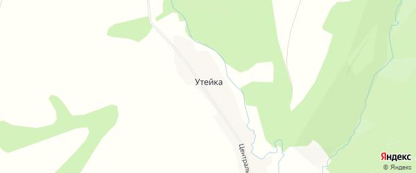 Карта деревни Утейки в Башкортостане с улицами и номерами домов