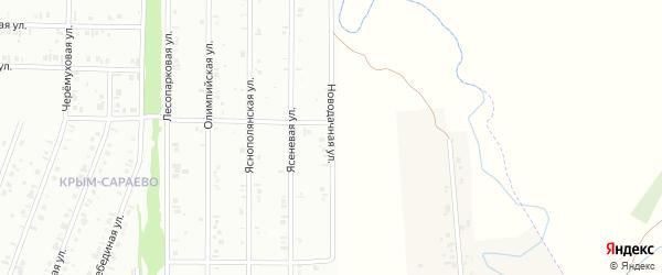 21-я улица на карте СНТ Восхода НГДУ с номерами домов